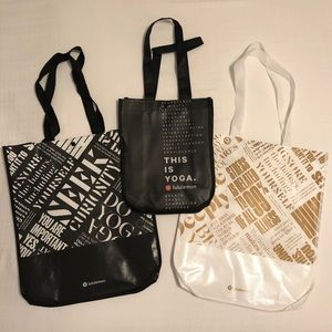 3 Rare Special Edition Lululemon Tote Bags